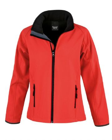 CAITHNESS LADIES FC LADIES SOFTSHELL JACKET WITH EMBROIDERED LOGO
